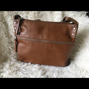 Fossil Leather Crossbody Bag - Tan / Brown